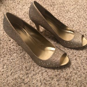 Style & Co Shoes - Suede Gold heels